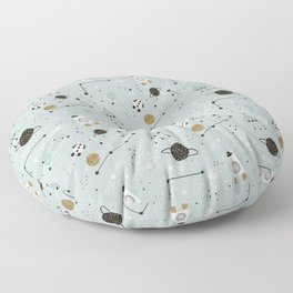Space ships Animals Prints patterns Floor Pillow