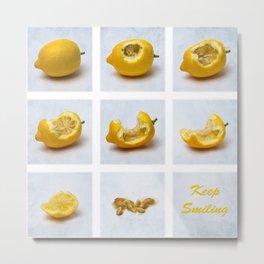 Lemon - Keep Smiling Metal Print