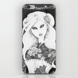 Midnight Rose iPhone Skin