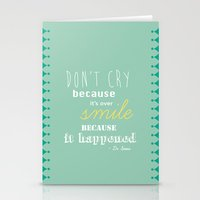 dr seuss Stationery Cards featuring Dr. Seuss Quote by Michelle Krasny