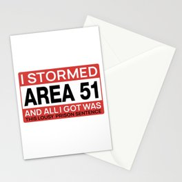 Area 51 Alien Justice Stationery Cards