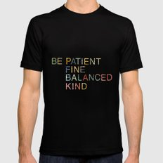 Skinny Love Quote Mens Fitted Tee MEDIUM Black