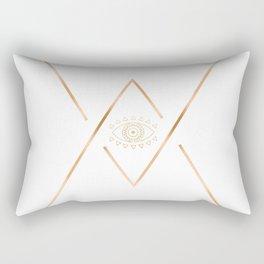 Mandala Gold Geometric Eye Rectangular Pillow