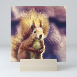 squirrel digital oil paint dopfn Mini Art Print