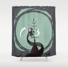 Night Hunt Shower Curtain