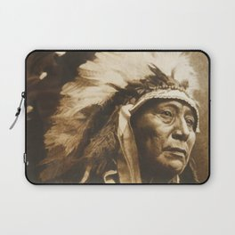 Chief Running Antelope - Native American Sioux Leader Laptop Sleeve