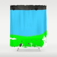 lonely Shower Curtains featuring Lonely by lookiz