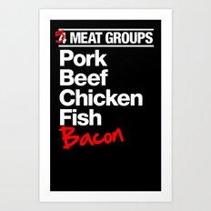 5 Major Meat Groups Art Print