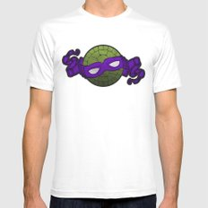 the purple turtle White MEDIUM Mens Fitted Tee