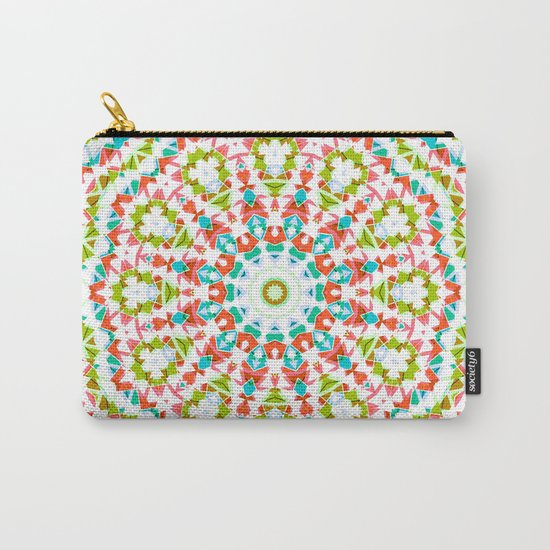 Kaleidoscope . Village . Carry-All Pouch