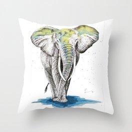 Elephant I Throw Pillow
