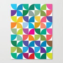 Geometrical work - Colours rotation Canvas Print
