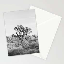 Large Joshua Tree in Black and White Stationery Cards