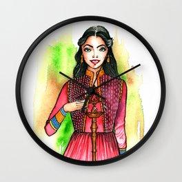 Dwali celebration illustration Wall Clock