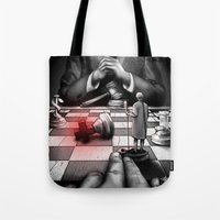 politics Tote Bags featuring Medicine+Politics by Cleev