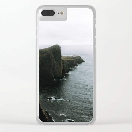 Neist Point Lighthouse II - Landscape Photography Clear iPhone Case