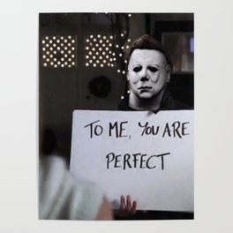 Michael Myers in Love Actually Poster