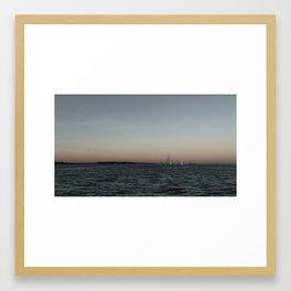 Sails on Casco Bay Framed Art Print