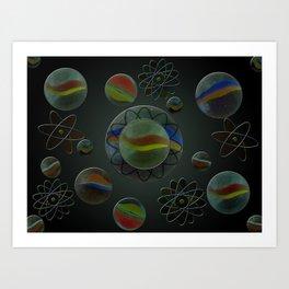Wandering Marbles Art Print