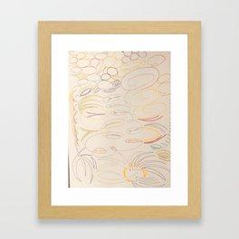 half way Framed Art Print