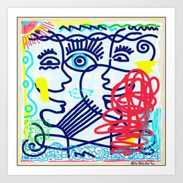 LET'S TALK ART #04 Art Print