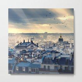 Rooftops in Paris Metal Print