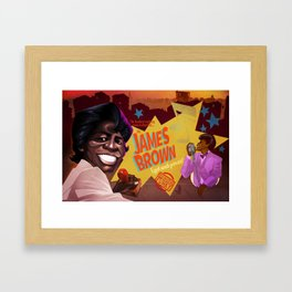God Made me Funky Framed Art Print