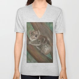 Koala Love with Joey Unisex V-Neck