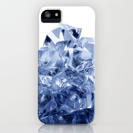 Mountain made of crushed ice, isolated on white background iPhone Case