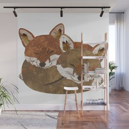 Shelter (Stacked Foxes) Wall Mural