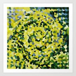 Yellow and Blue Crystallized Swirls Art Print