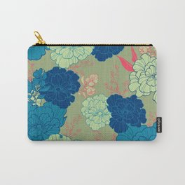 Green Blue Anemone Carry-All Pouch