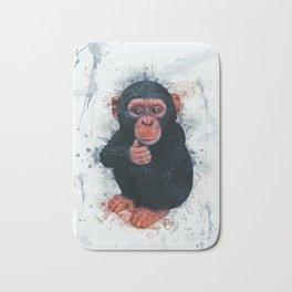 Chimpanzee Art Bath Mat