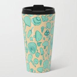 Fungi V2 Vintage Mushroom Pattern Travel Mug