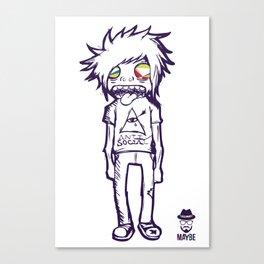 MAYBE - mod. SOCIAL t-shirt uomo/donna Canvas Print