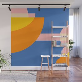 """Cloud Hopping"" Abstract Wall Mural"