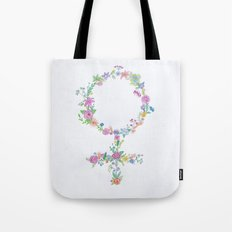 Feminist flower Tote Bag