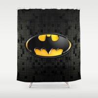 bat man Shower Curtains featuring BAT MAN by BeautyArtGalery