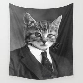 Gentleman Cat Wall Tapestry