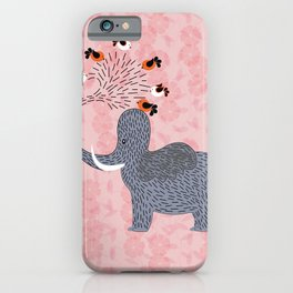 Happy Elephant and cute birds iPhone Case