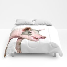 Laughing Pig Comforters