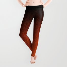 Orange & Black Glitter Gradient Leggings