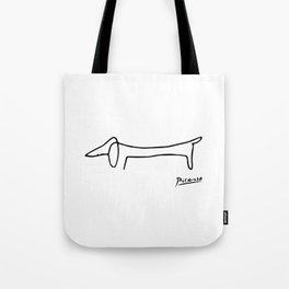 Pablo Picasso Dog (Lump) Artwork Shirt, Sketch Reproduction Tote Bag
