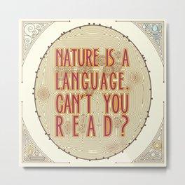 Nature is a Language: The Smiths Lyrics Metal Print