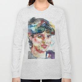 SYLVIA PLATH - watercolor portrait Long Sleeve T-shirt