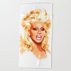 RuPaul - Supermodel - Pop Art Beach Towel