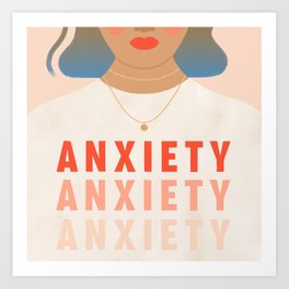 Anxious Girls Unite Art Print