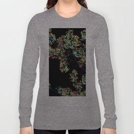 Mismatch Color Hatch Long Sleeve T-shirt