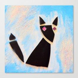 Vinyl Kitty Canvas Print