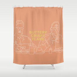 Buttery Crispy Flake Shower Curtain
